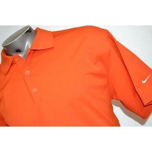 4769 Mens Nike Golf Polo Shirt Size XL Orange Fit